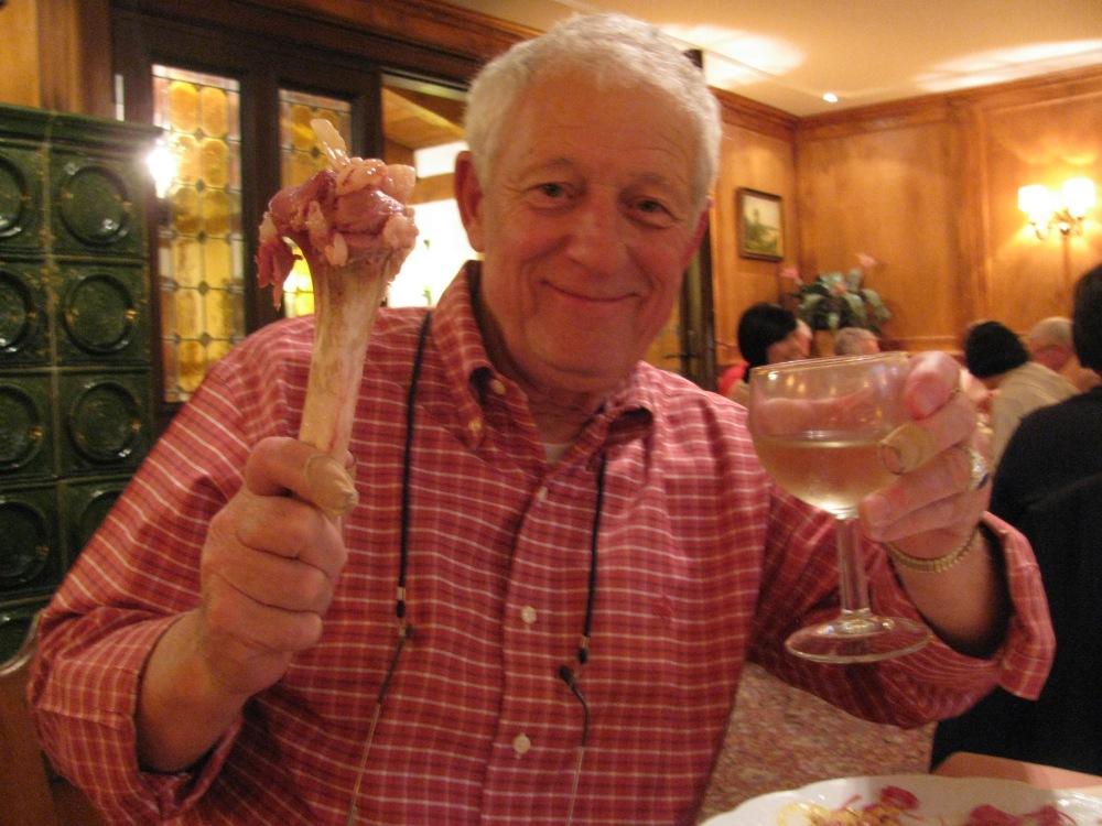 FRANK AFTER EATING PORK KNUCKLE DINNER!