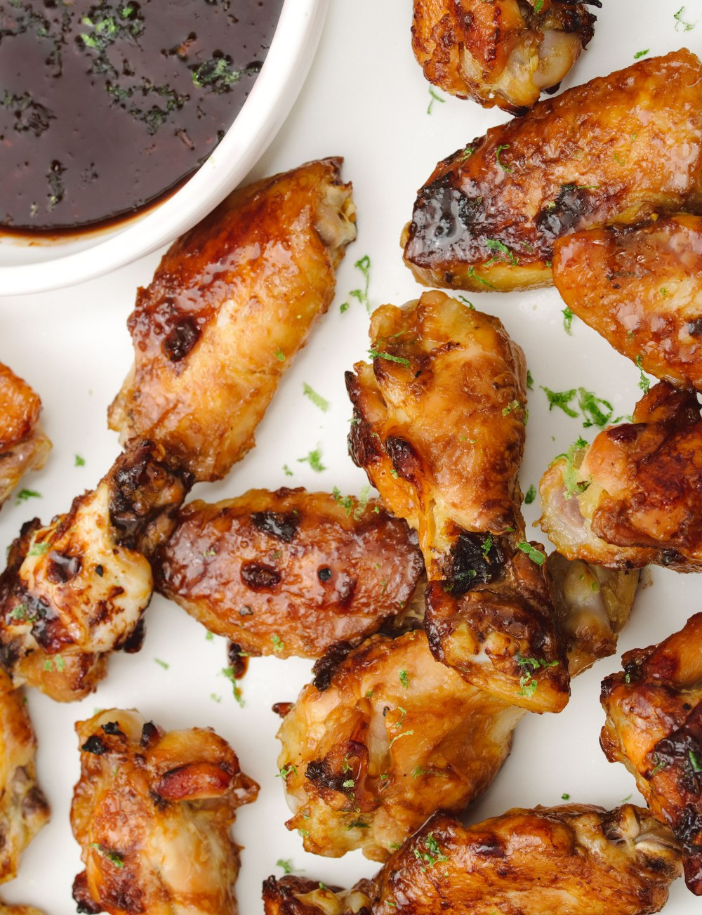 Honey-Ginger Chicken Wings (c) Rebecca Sanabria
