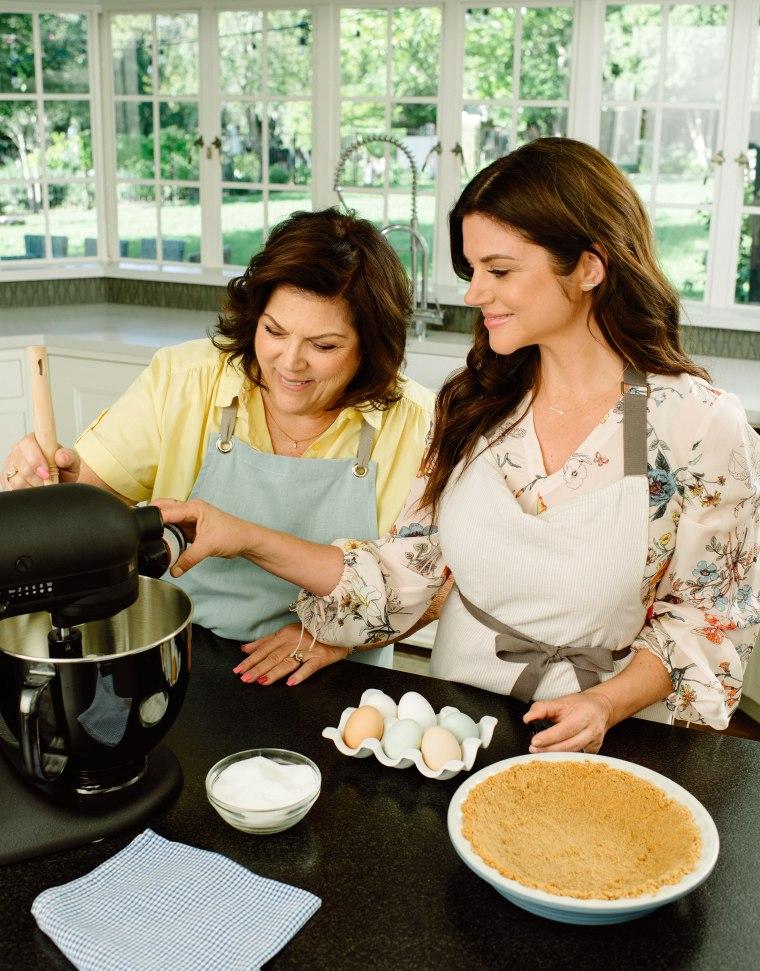 Tiffani & Mom Making Mom's Cream Cheese Pie (c) Rebecca Sanabria