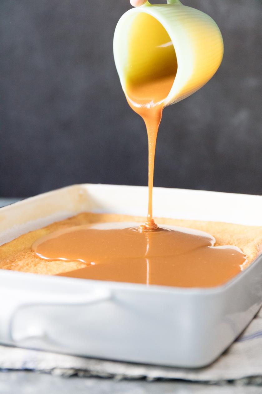 Poured Caramel Cake